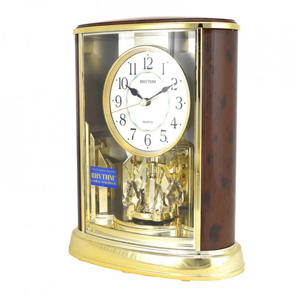 Rhythm Table Clock Pendulum Magic Motion RT4SG724WS06