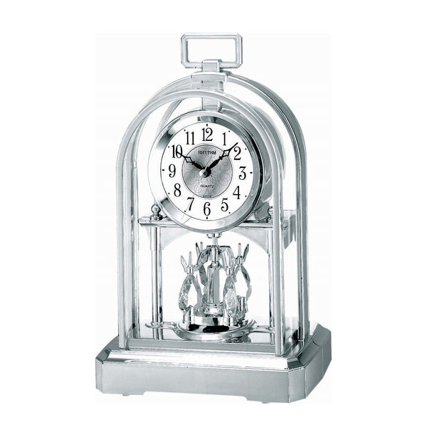 Rhythm Table Clock Pendulum Magic Motion RT4SG744WR19