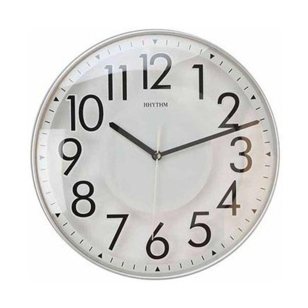 Rhythm Clock White Plastic Case Wall Clock RTCMG488NR19