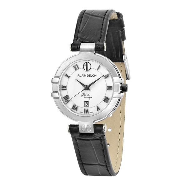 Alain Delon Ladies Elegance Quartz Leather AD351-2319