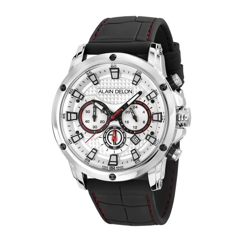 Alain Delon Men Chronograph Silicon Band AD450-1312C