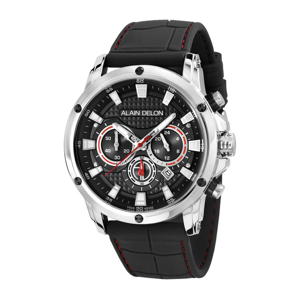 Alain Delon Men Chronograph Silicon Band AD450-1332C
