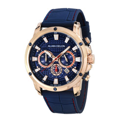 Alain Delon Men Chronograph Silicon Band AD450-1582C
