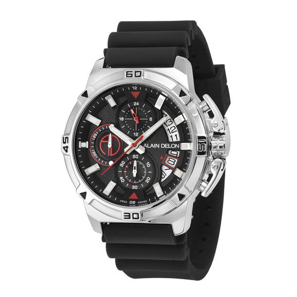 Alain Delon Men Chronograph Rubber Strap AD452-1332C