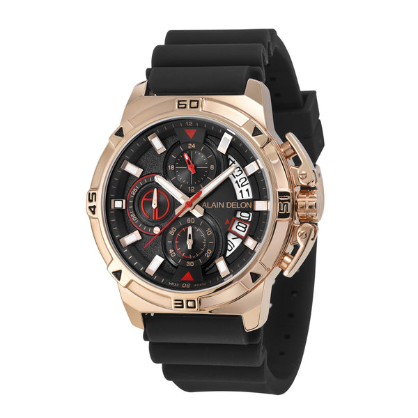 Alain Delon Men Chronograph Rubber Strap AD452-1532C