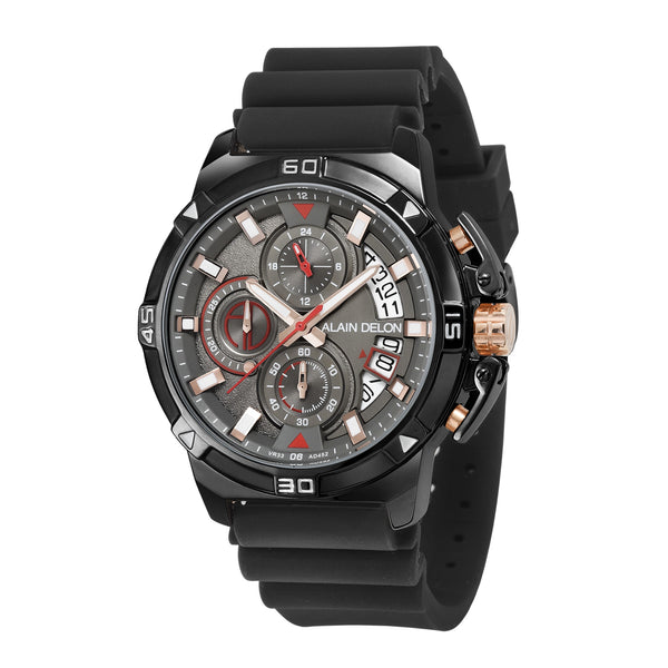Alain Delon Men Chronograph Rubber Strap AD452-1732C