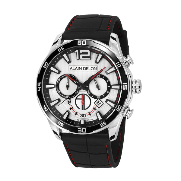 Alain Delon Men Chronograph Silicon Band AD453-1315C
