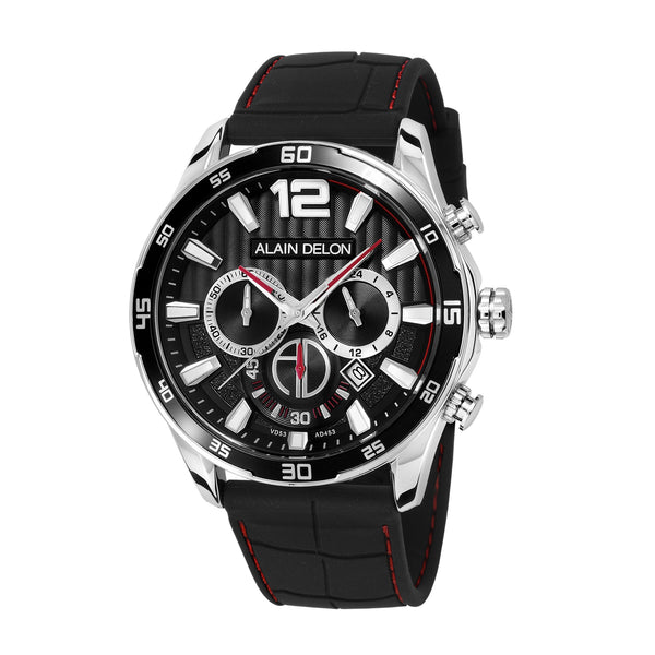Alain Delon Men Chronograph Silicon Band AD453-1335C