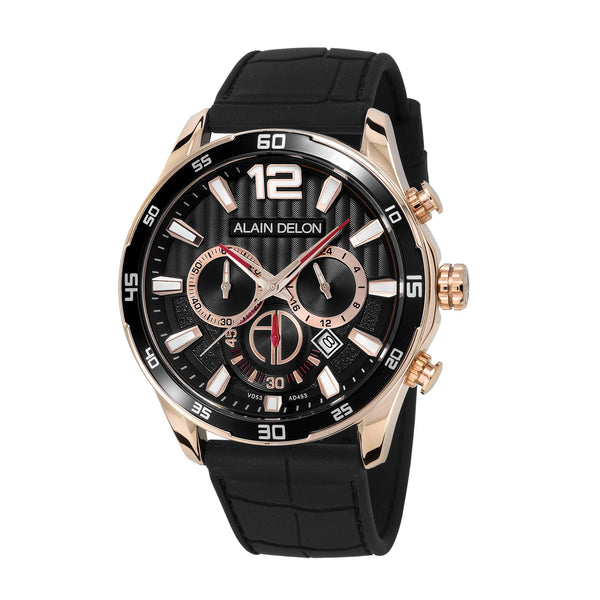 Alain Delon Men Chronograph Silicon Band AD453-1535C