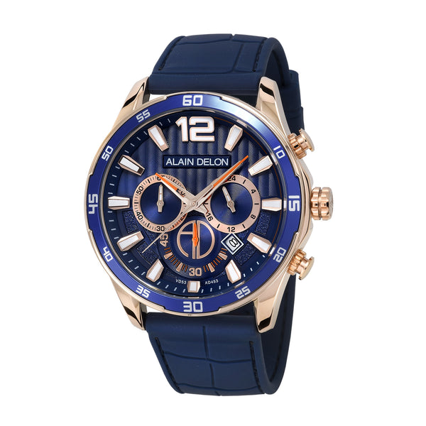 Alain Delon Men Chronograph Silicon Band AD453-1585C