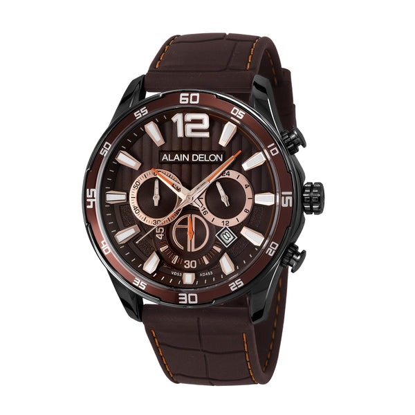 Alain Delon Men Chronograph Silicon Band AD453-1745C