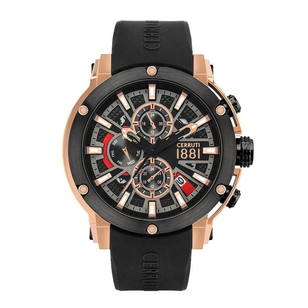 Cerruti 1881 Bicciano Multifunction Silicon Men Watch CTCRA28603