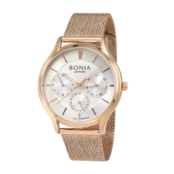Bonia Multi-Function Rose Gold BNB10549-1512M (Free Gift)