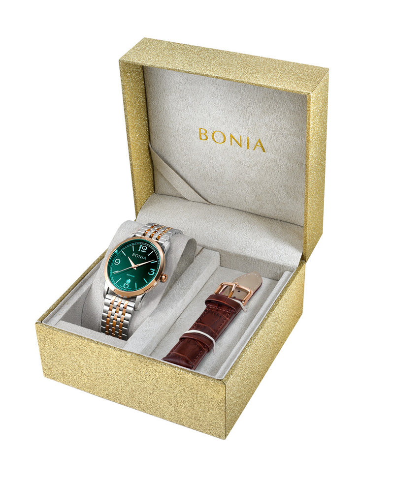 Bonia His & Her 2 Straps Set (BNB10575-1695 & BNB10575-2695)