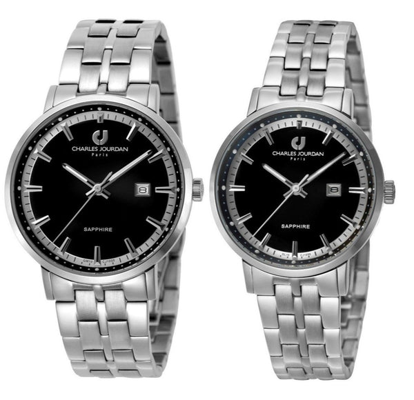 Charles Jourdan Men's & Women's Watch Set CJ1050-1332 & CJ1050-2332