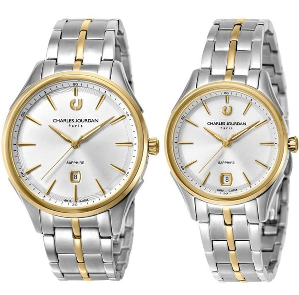 Charles Jourdan His & Her Watch Set CJ1054-1112 & CJ1054-2112