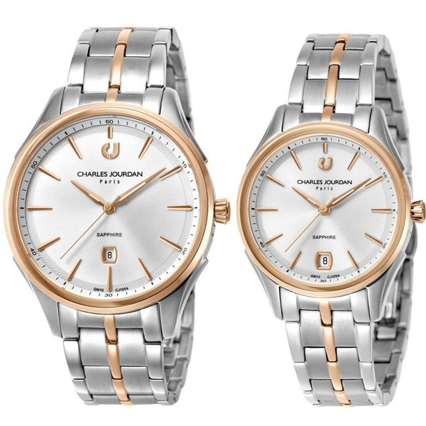 Charles Jourdan Couple Watch Set CJ1054-1612 & CJ1054-2612