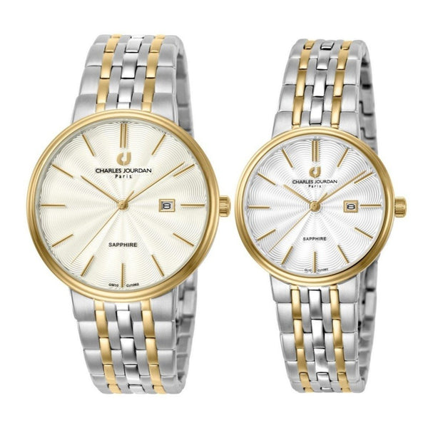 Charles Jourdan Couple Watch Set CJ1062-1112 & CJ1062-2112