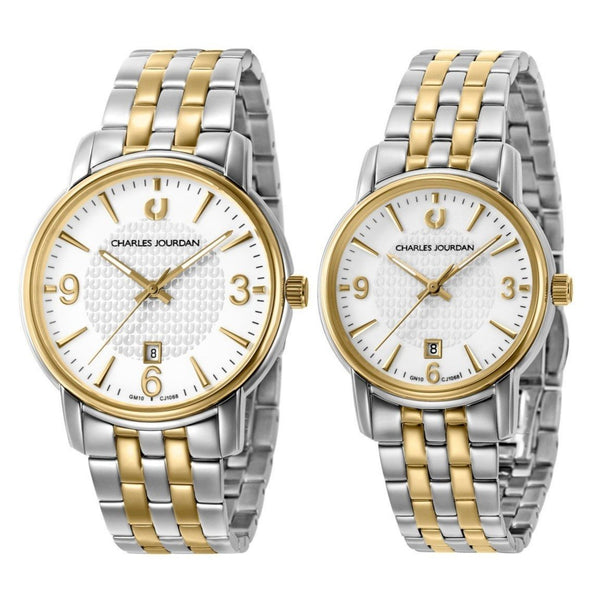 Charles Jourdan Men's & Women's Watch Set CJ1068-1112 & CJ1068-2112
