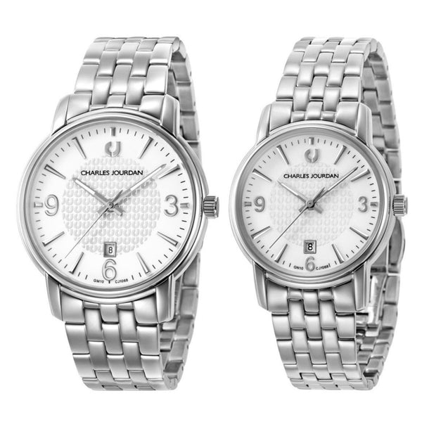 Charles Jourdan Couple Watch Set CJ1068-1312 & CJ1068-2312