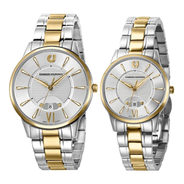 Charles Jourdan Couple Watch Set CJ1071-1113 & CJ1071-2113