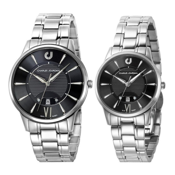 Charles Jourdan Men's & Women's Watch Set CJ1071-1333 & CJ1071-2333