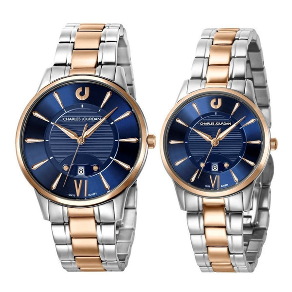 Charles Jourdan Couple Watch Set CJ1071-1683 & CJ1071-2683