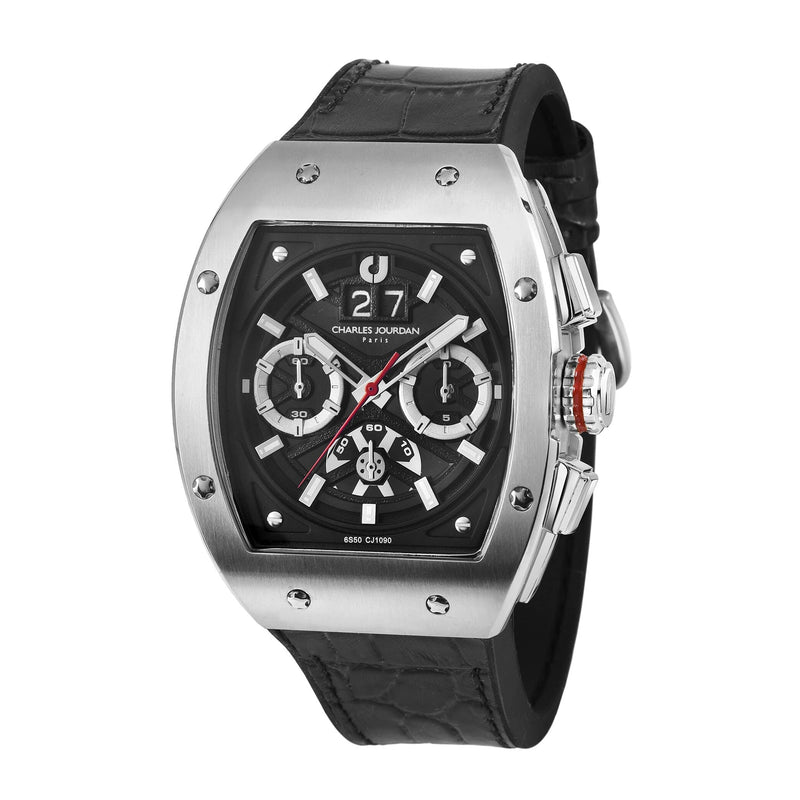 Charles Jourdan Ludis Sports Men Chronograph 45mm CJ1090-1332C (Free Gift)