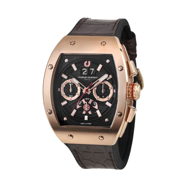 Charles Jourdan Ludis Sports Men Chronograph 45mm CJ1090-1532C (Free Gift)