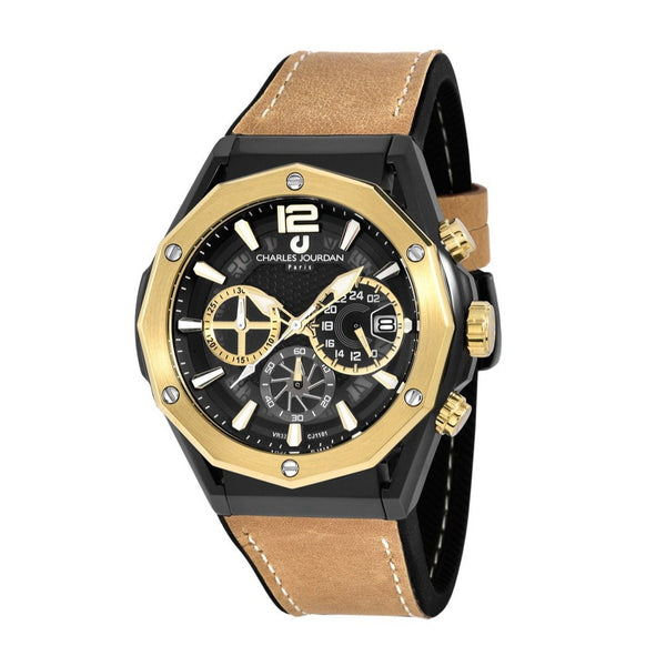 Charles Jourdan Men Chronograph CJ1101-1035C (Free Gift)