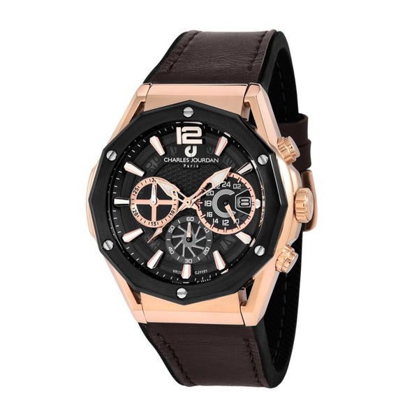 Charles Jourdan Men Chronograph CJ1101-1535C (Free Gift)