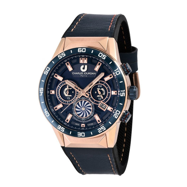 Charles Jourdan Men Chronograph CJ1102-1582C (Free Gift)