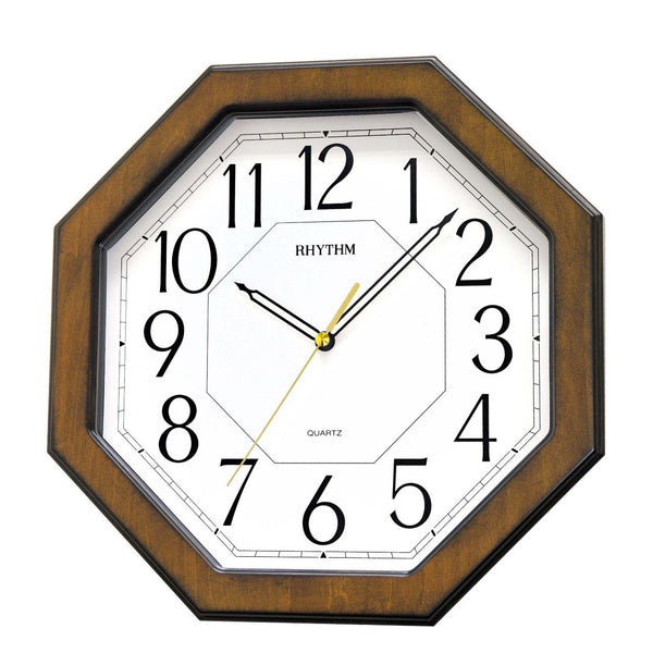 Rhythm Wall Clock Wooden Silent Silky Move RTCMG944NR06
