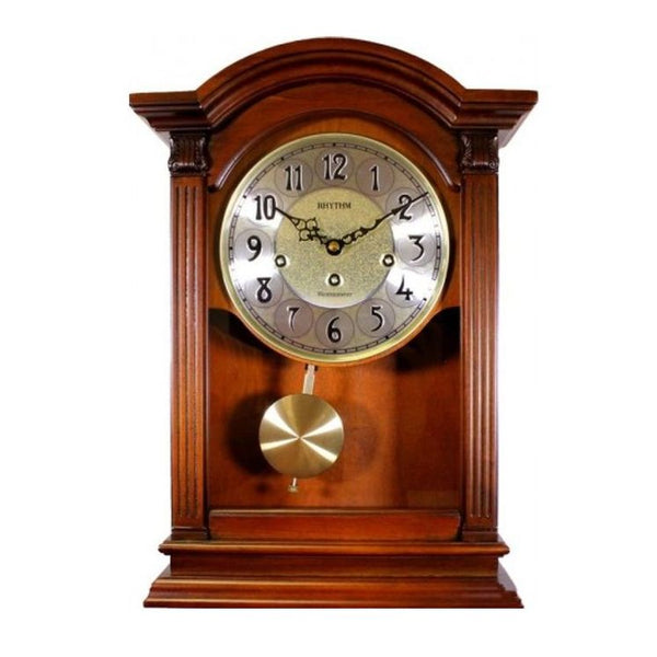 Rhythm Clock Brown color wooden case Dual Use Clock RTCMJ331BR06