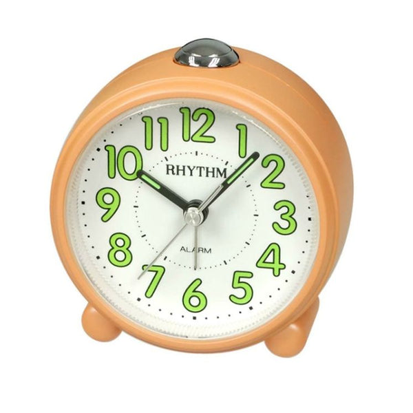 Rhythm Clock Orange Plastic Case Alarm Clock RTCRE856NR14