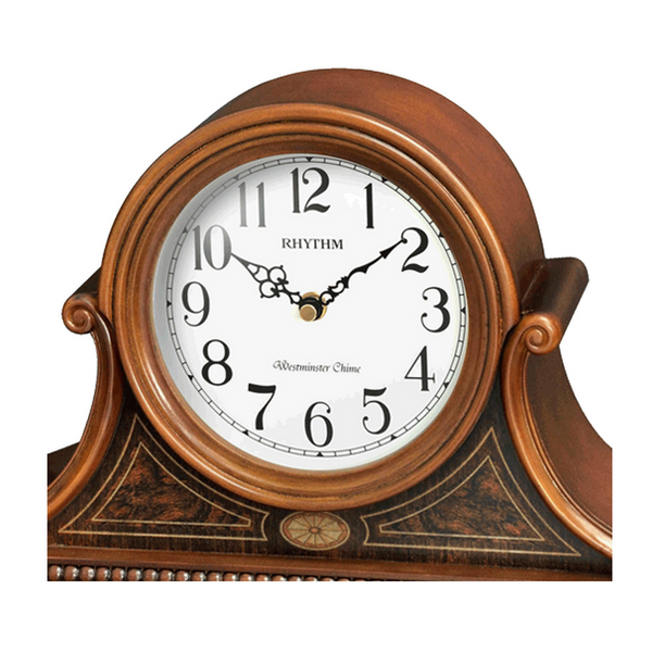 Rhythm Clock Brown Wooden Case Table Clock RTCRH262NR06