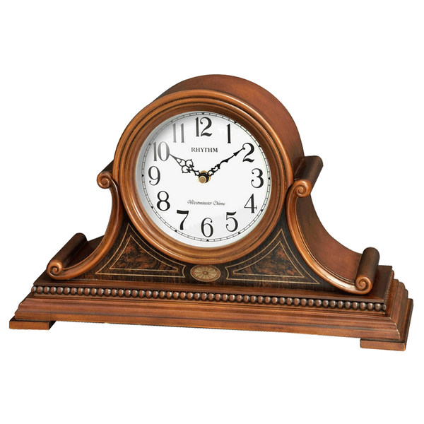 Rhythm Clock Brown color wooden case Table Clock RTCRH262NR06