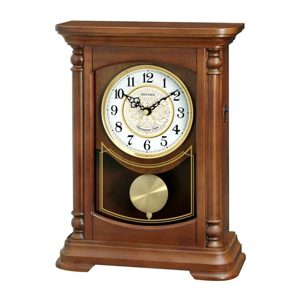 Rhythm Wall Clock Wooden Westminster Chime RTCRJ755NR06