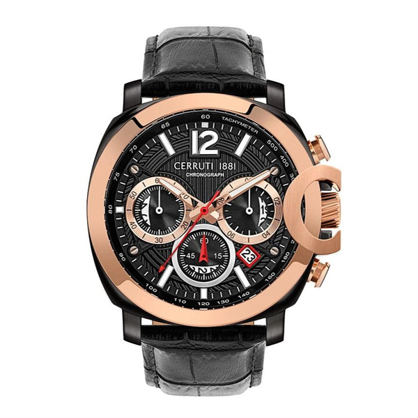Cerruti 1881 Positano Chronograph Leather Strap Men Watch CTCRA18110