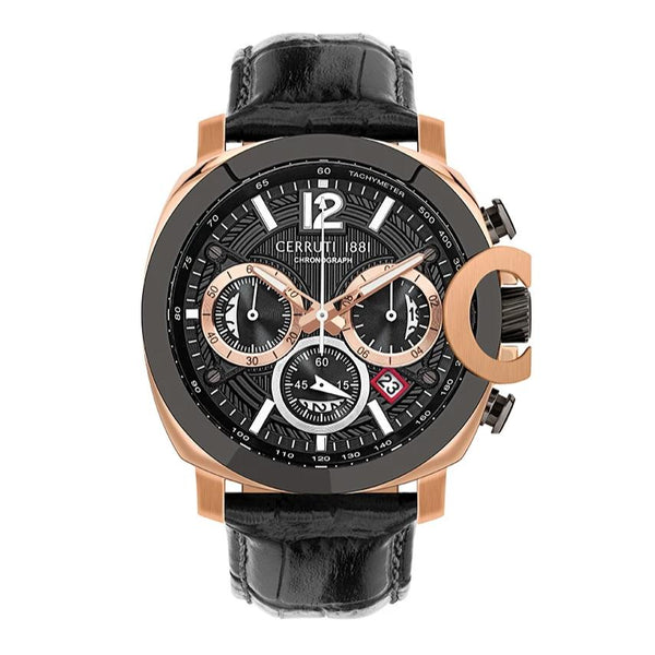 Cerruti 1881 Positano Chronograph Leather Strap Men Watch CTCRA18112