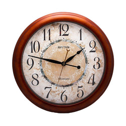 Rhythm Wall Clock Wooden RTCMH803NR06
