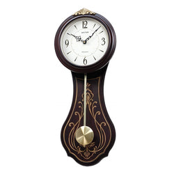 Rhythm Wall Clock Wooden Westminster 3 Chimes RTCMJ548NR06