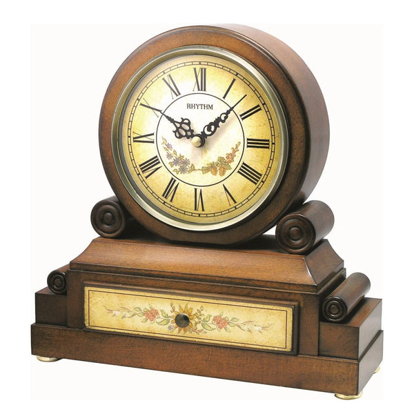 Rhythm Table Clock Wooden RTCRH136NR06