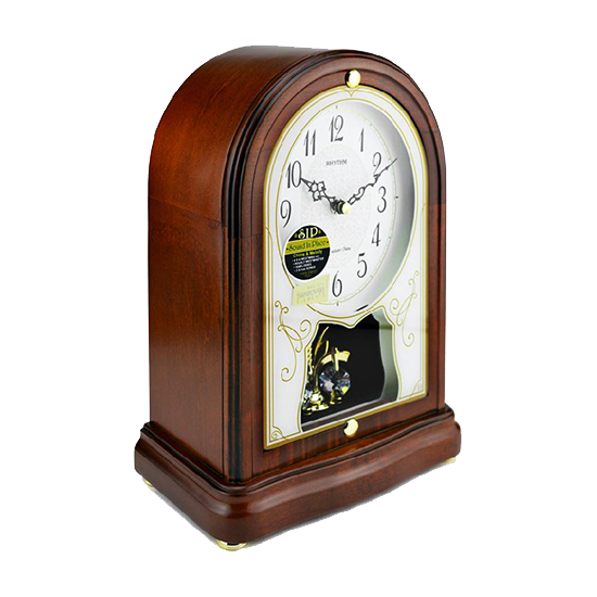 Rhythm Table Clock Wooden Westminster Chime RTCRH225NR06