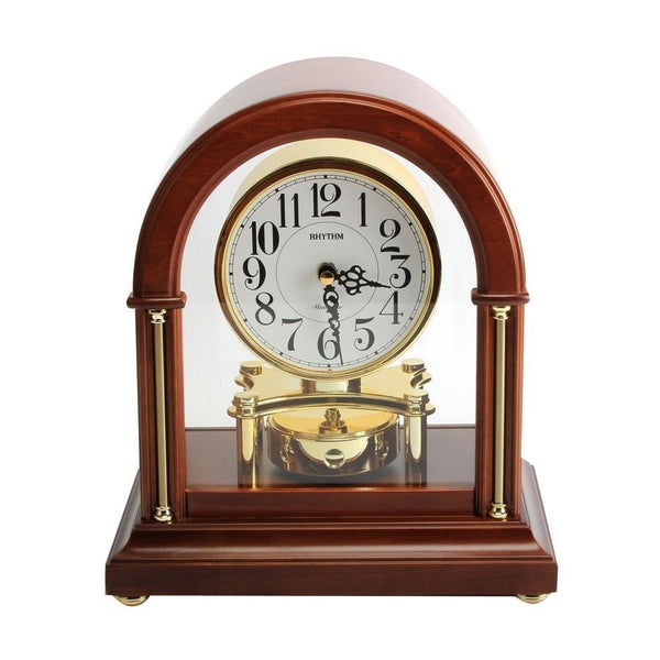 Rhythm Table Clock Wooden RTCRH242NR06