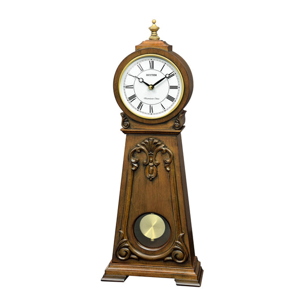 Rhythm Table Clock Wooden Sound In Place RTCRJ749NR06