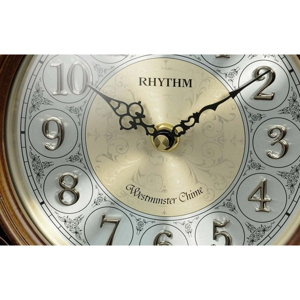 Rhythm Table Clock 3D Numerals RTCRJ751NR06