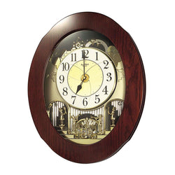 Rhythm Wall Clock Wooden Magic Motion RT4MH838WD06