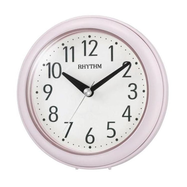Rhythm Clock Pink Plastic Case Dual Use Clock RT4KG711WR13
