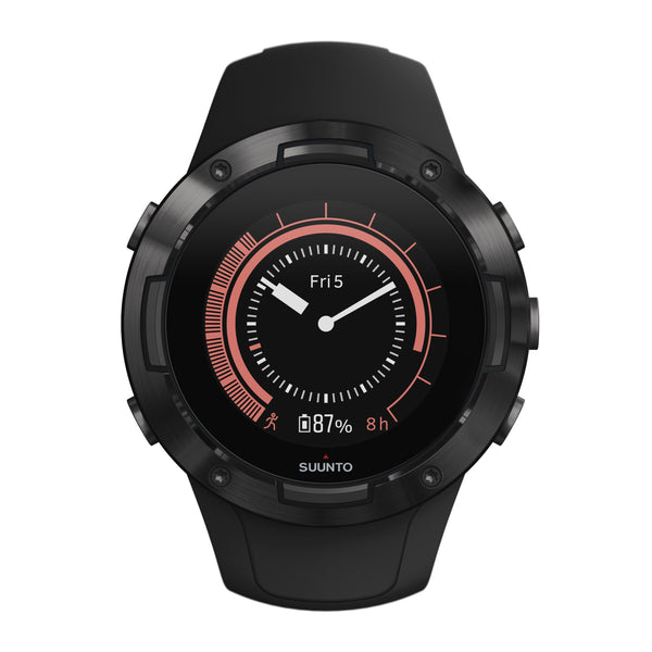 Suunto 5 All Black SUSS050299000 - Compact GPS Sports Watch With Great Battery Life